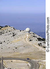 Radar Mount Ventoux protecting airspace