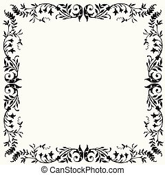 Vector Floral Frame - Detailed illustrated frame Easy to...