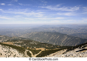 Landscape seen from the top of Mount Ventoux