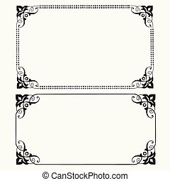 Vector Dot Frames - Detailed illustrated frames Easy to edit...