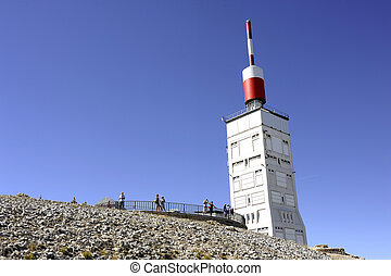 station of Mount Ventoux - Antenna radio and reception...
