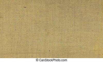 Zoom in burlap texture, top view