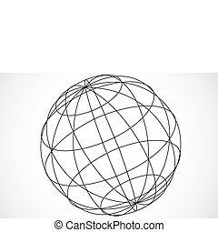 Vector Sphere - Illustration of a sphere or globe