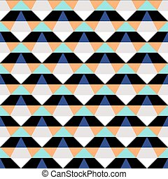 Abstract geometric color blocked pattern