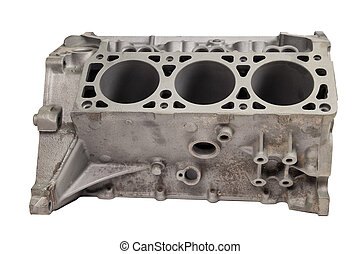 Part of internal combustion engine after powder coating on...