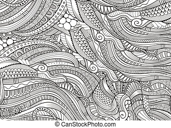 Abstract sketchy decorative doodles hand drawn ethnic...