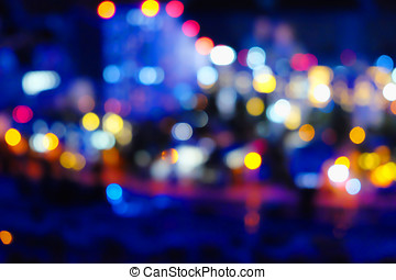 blurred  lights of the night city