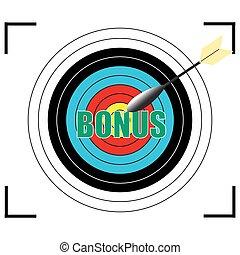 Bonus word Vector, business concept.