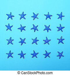 Small blue stars pattern on blue background