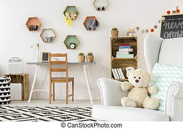Faithful friend of the child is waiting - Cozy child room...