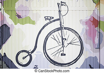 Transport velocipede - Drawn transport velocipede wall,...