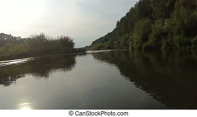 Kayak fast timelapse down river - 30 seconds Kayak fast...