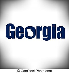 The Georgia shape is within the Georgia name in this state...