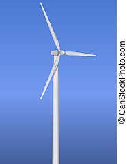 Isolated wind turbine - Wind turbine realistic vector...