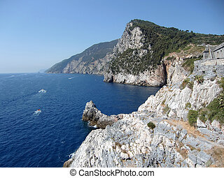 coast of portovenere - coast and sea portovenere italy