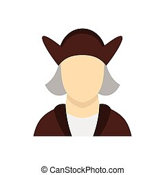 Man wearing in Christopher Columbus costume icon - icon in...