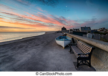Stunning Sunset Over Chesil Cove - Stunning sunset at Chesil...