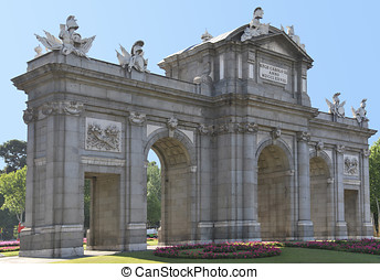 Puerta de Alcala. Famous monument in Madrid. Spain