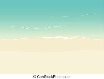 Beach background seamless, sea coast and sand backdrop -...