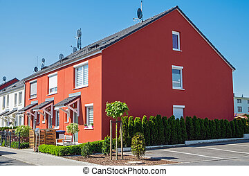 Serial houses seen in Germany - Serial houses seen near...