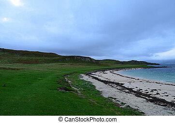 Claigan Coral Beach in Scotland - White Claigan coral beach...