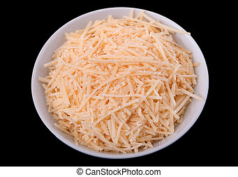 shredded cheese - one small prep bowl of shredded cheddar...