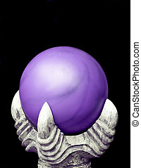 Dragon Orb - A purple mystic orb held up by a dragons claw