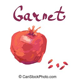 abstract garnet on white background