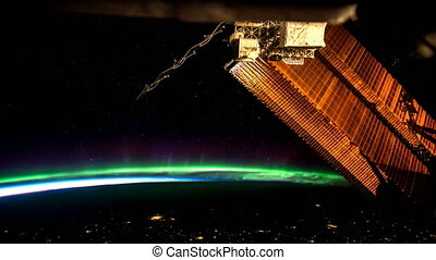 Earth and Aurora Borealis from ISS. Elements of thiis vdeo...
