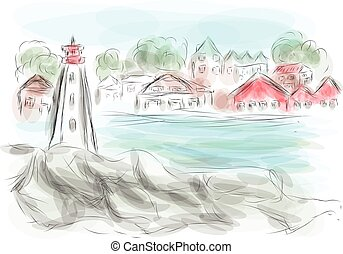 nova scotia. abstract illustration on multicolor background