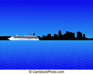 cruise ship and New Orleans