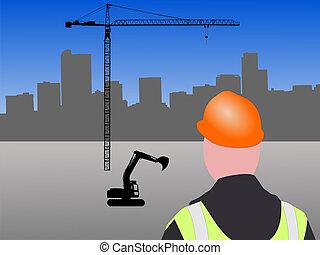 construção, local,  Denver