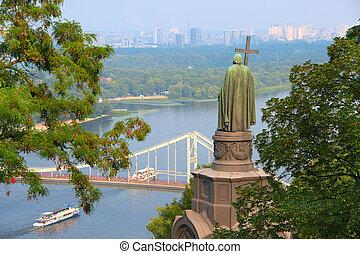 St Vladimir staue. Kiev, Ukraine - Monument of Saint...