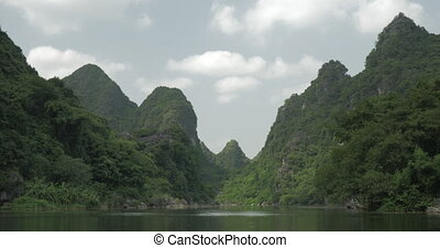 In Trang an bai in Hanoi, Vietnam seen picturesque landscape...