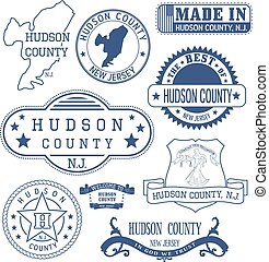 Hudson county, NJ, generic stamps and signs - Hudson county,...