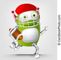 Green robot character - Cartoon Character Cute Robot...