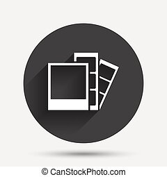 Photo frame template icon Strips - Photo frame template sign...
