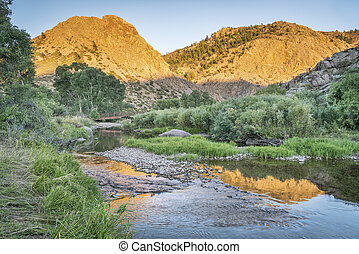 Eagle Nest Rock and Poudre RIver