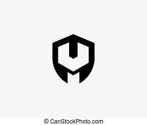 Repair service tool shop shield sign logotype. Creative idea wrench icon mechanic logo. Negative space symbol.