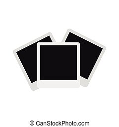 Photographs icon, flat style - Photographs icon in flat...
