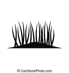 Grass on ground icon, simple style - Grass on ground icon in...