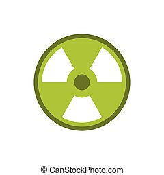 Radioactive sign icon, flat style - Radioactive sign icon in...