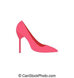 Womens shoe icon, flat style - Womens shoe icon in flat...