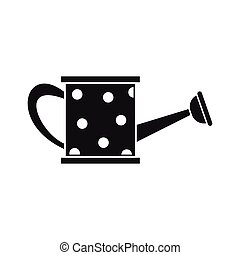 Watering can icon, simple style - Watering can icon in...