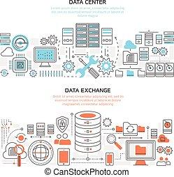 Datacenter Horizontal Linear Banners - Datacenter horizontal...