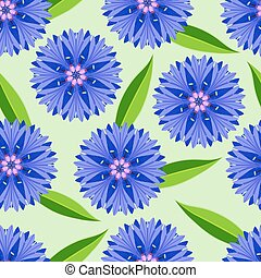 Summer seamless pattern with cornflowers - Beautiful nature...