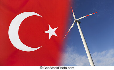 Concept Clean Energy in Turkey - Concept clean energy with...