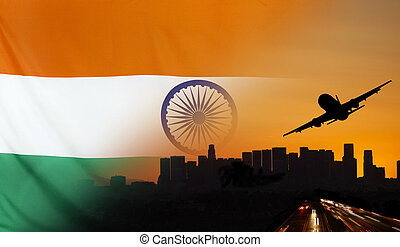 India fabric Flag Travel and Transport Concept - Travel and...