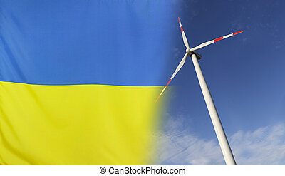 Concept Clean Energy in Ukraine - Concept clean energy with...