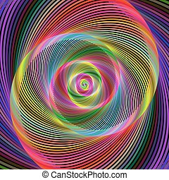 Colorful abstract fractal spiral design background vector